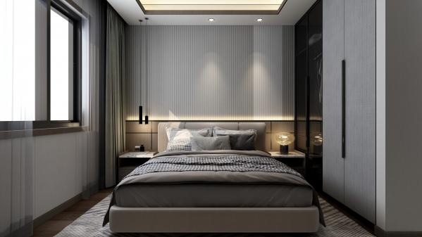 嘉兴现代极简卧室